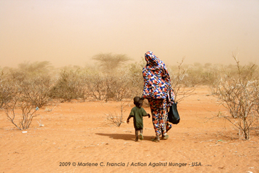 Mandera Grandmother and grandson
