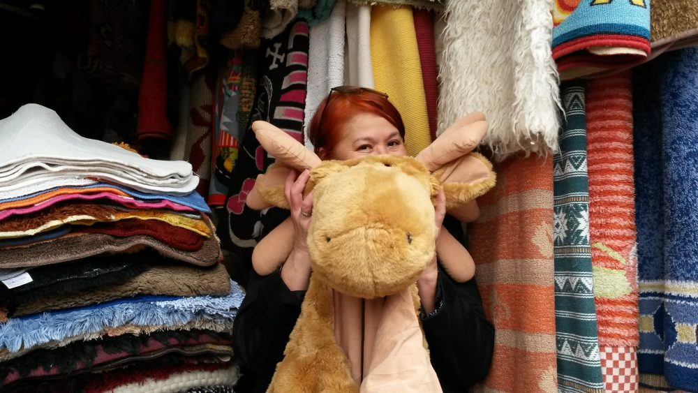 Me and Mr. Moose one fine day at the Toi Market in Nairobi